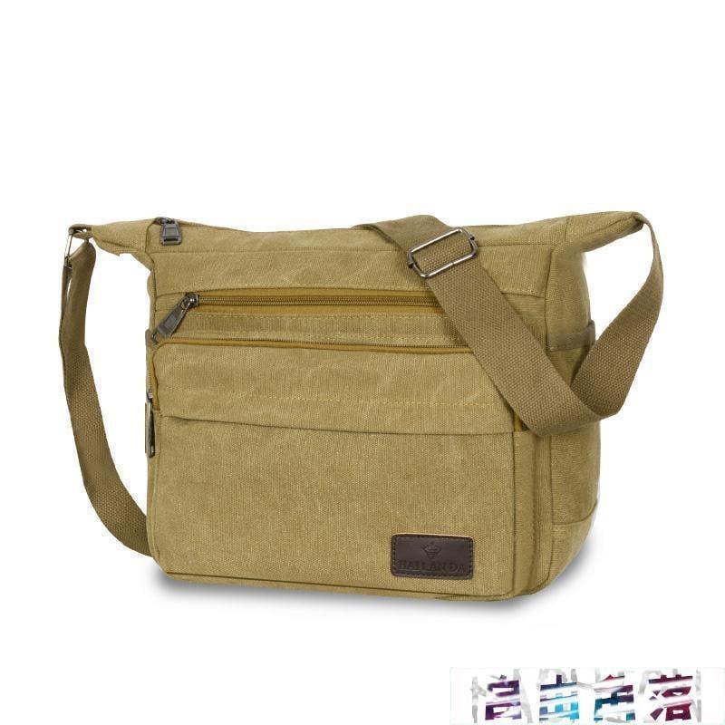 『自由角落』帆布大包包側背斜背包男士側背包男包包大容量斜背電腦包側背包男『熱銷商品』