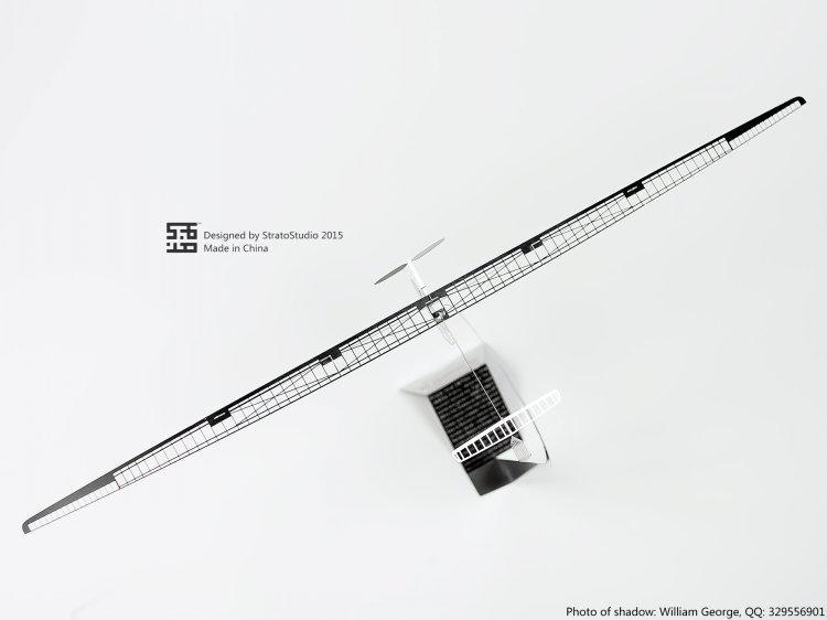 strato studio H14404 人力滑翔機 1/160 THE DAEDALUS 88 金屬蝕刻片模型飛機