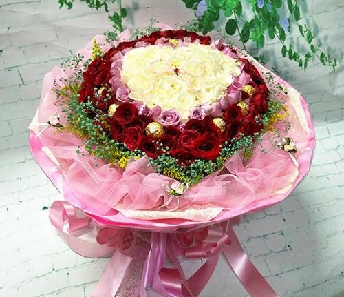 情人節 99 玫瑰 花束 求婚 生日花束 母親節花束 情人節花束.168朵 玫瑰