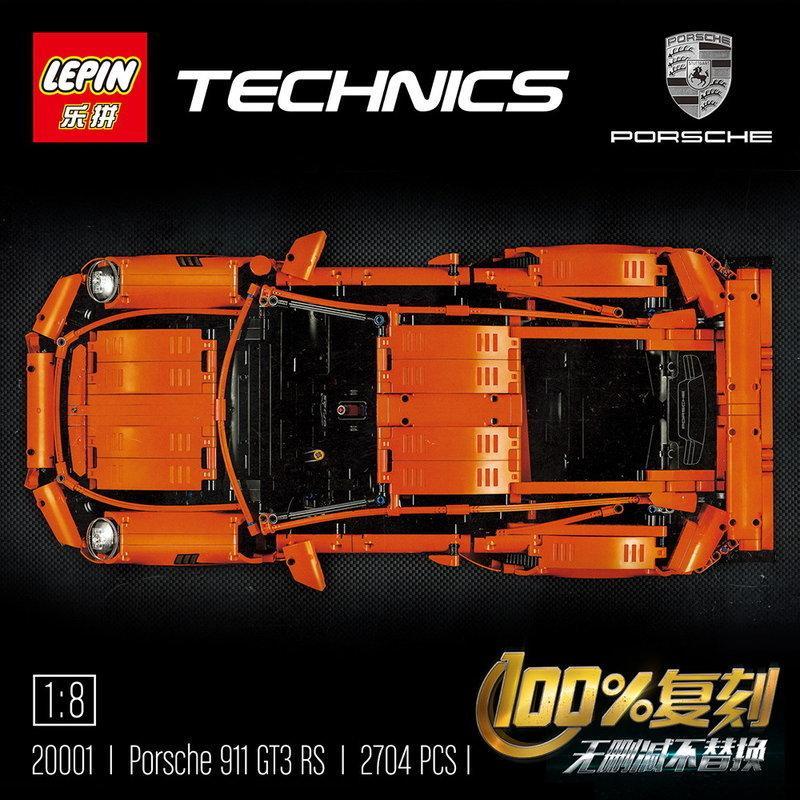 *樵夫遊樂園* 樂拼 (現貨) 20001 科技/跑車/保時捷/911/GT3/RS 積木