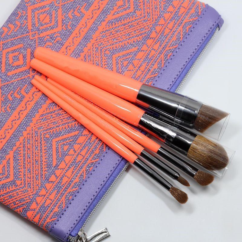 美妝工具 SEPHORA絲芙蘭化妝刷包+5支化妝刷含動物毛腮紅刷修容刷粉底刷眼影鼻影遮瑕套刷