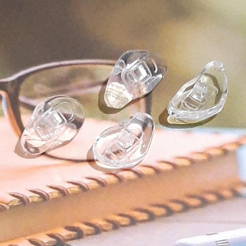 3D立體鼻墊 弧形鼻墊 曲面鼻墊 矽膠鼻墊 鼻托 柔軟 托葉 防滑 無痕矽膠 螺絲型 眼鏡鼻托 眼鏡鼻墊