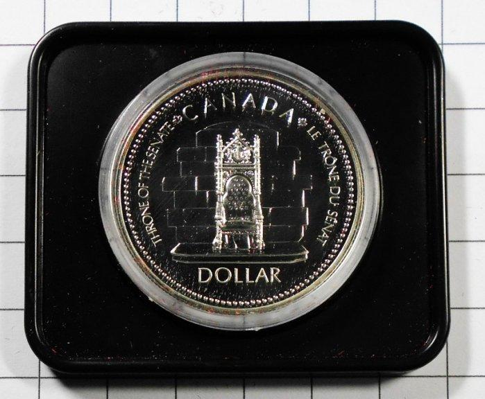BA127 加拿大1952-1977年 登基加冕週年DOLLAR銀幣 盒裝