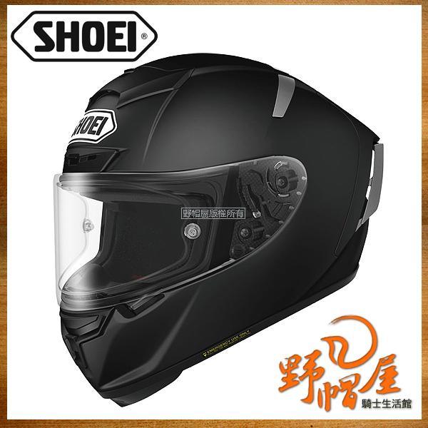 三重《野帽屋》日本 SHOEI X-14 2016新款 內襯全可拆 X-Spirit X14。Matt Black 霧黑