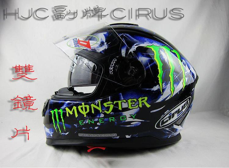 ☆依級方程式☆韓國HJC/CIRUS HS-800 全罩式雙鏡片安全帽 MONSTER鬼爪彩繪帽 (四款:黑、藍、紅、粉)