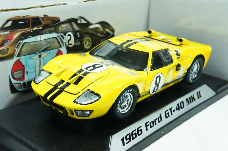 【絕版現貨】1:18 Shelby Collectibles Ford GT40 MK 2 1966 道路版黃色