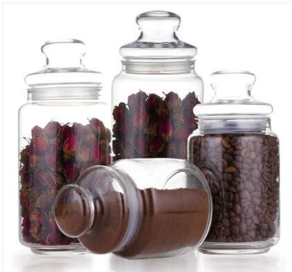 【玻璃無鉛無漏 密封保鮮  】密封罐玻璃瓶 無鉛食品儲物罐茶葉罐咖啡罐雜糧收納罐奶粉罐《lu》