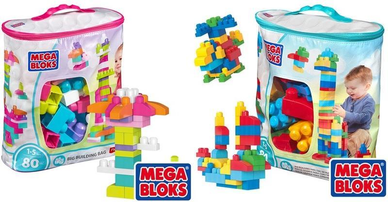 經典/粉色 費雪 美高積木 MEGA BLOKS 80片裝 積木袋