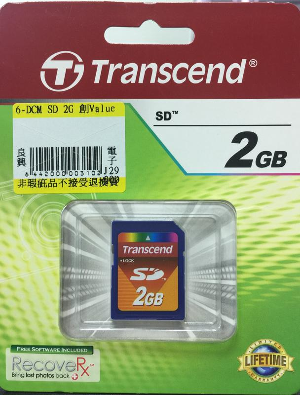 創見Transcend 2GB SD 記憶卡,原廠終身保固 0
