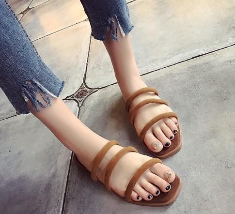 時尚休閒涼拖鞋外穿沙灘鞋女夏1雙價~~~