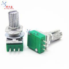 [含稅]單聯電位器 RK097N B100K B104 柄15mm 音響/功放/密封電位器 3腳3個