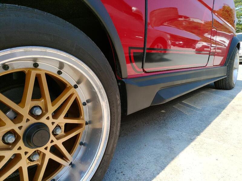 車酷爆龜坊-三菱中華A180-菱利1.5廂車-1.2-1.3-1.6側裙空力套件
