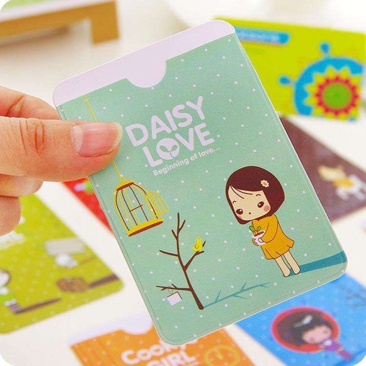 【小女孩雙卡套】韓系雙面2位卡夾 可愛2卡位證件套 卡片套 信用卡 悠遊卡 金融卡☆精品社☆