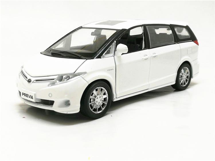 豐田 Toyota previa 金屬合金聲光模型車 1/32 白色