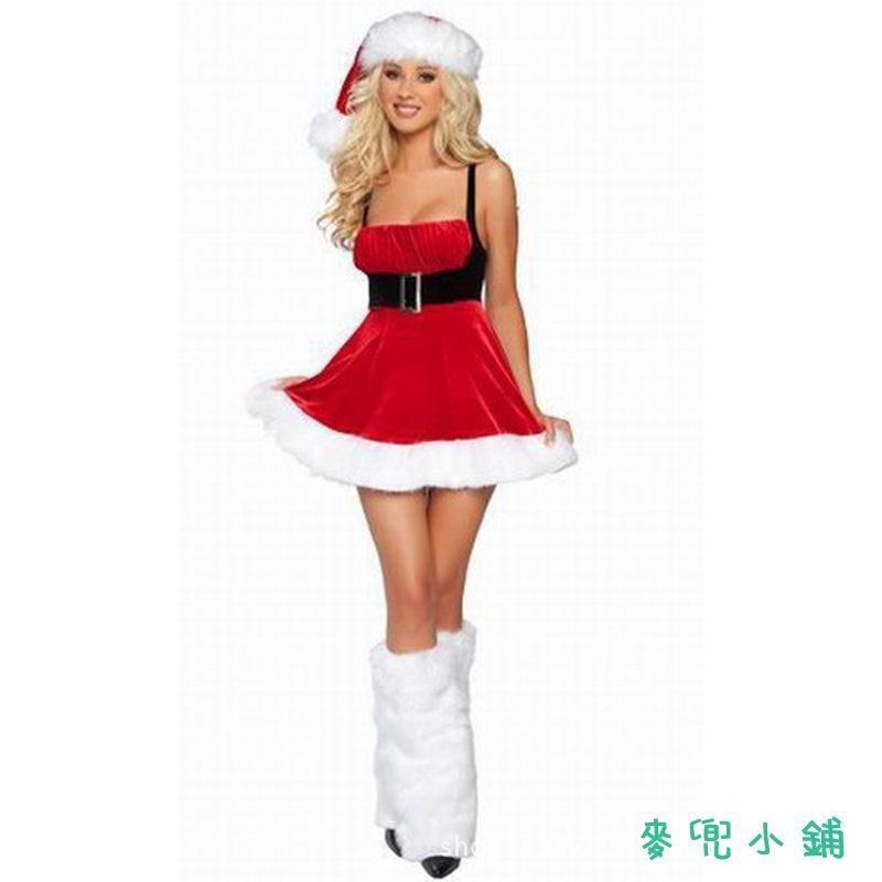 麥兜小鋪-免脫性感圣誕節掛脖服裝  歐美情趣內衣NJFC048