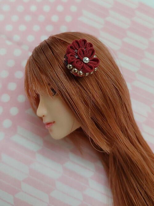 孤品區~1/6 可用日式布花 髮飾 PHICEN 包膠 嵐 SUPER DUCK頭雕 素體可用