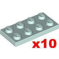 【小荳樂高】LEGO 淡水藍色 2x4 薄板/薄片 (10個) Plate 3020 6138662