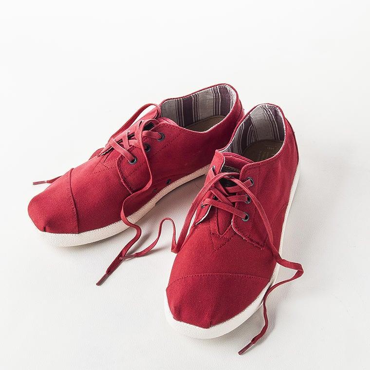 全新 TOMS Paseos Red Canvas 帆布鞋