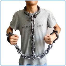萬聖節 囚犯 犯人 頭銬+手銬 一體 上半身銬 搞怪/惡搞/尾牙/變裝/遊行/COS【W11000301】塔克玩具