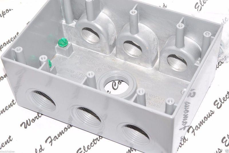 HUBBELL 5390-0  全鋁 3聯鋁盒 6孔電源盒 配線盒