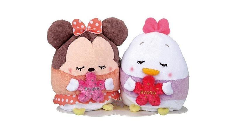 現貨 不用等 日本代購 迪士尼 ufufy 香氣 雲朵娃娃 京都限定版 正品帶回 米妮 黛絲 愛心閉眼 療癒小物 棉花糖