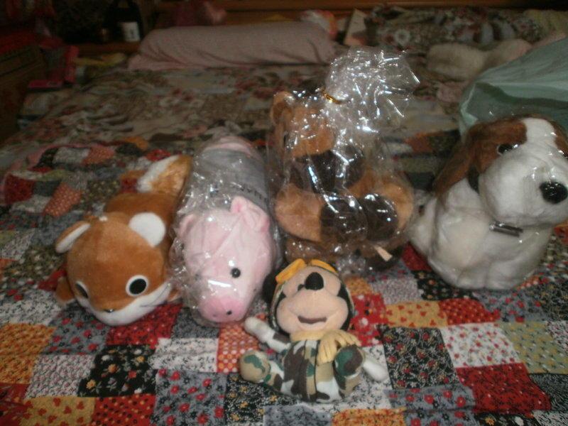 五件式可愛絨毛玩偶