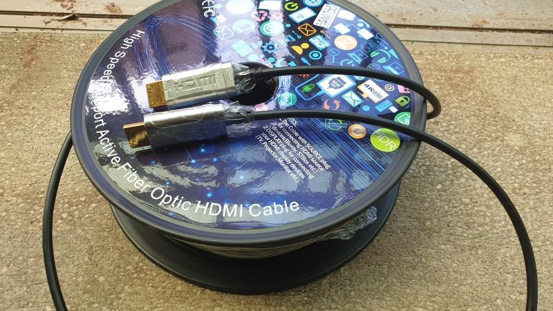 4K HDMI Active Optical Cable Fiber AOC主動式光纖hdmi線 50公尺公對公
