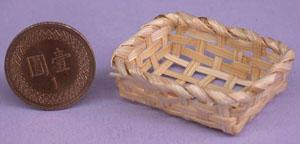 袖珍魔法世界**袖珍迷你方型麵包籐籃