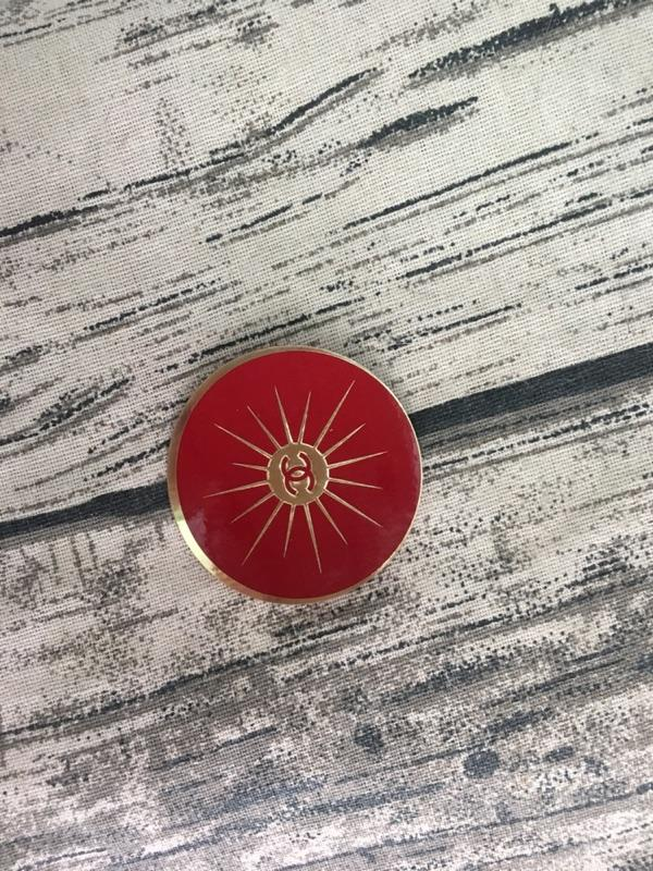 CHANEL香奈兒專櫃小物 專用贈品貼紙3D金色/幻彩/藍色c山茶花/紅色雙C圓形裝飾品禮盒貼裝飾物