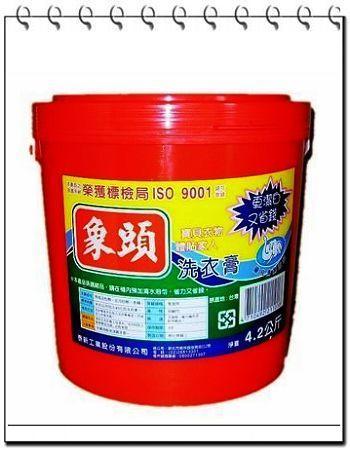 【泰新工業】象頭 洗衣膏 4.2kg(桶) 4入(箱) 濃縮洗衣精 可洗滌較細緻衣物 無磷 限時限量大促銷 (8)