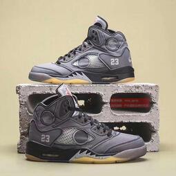 OFF-WHITE x Air Jordan 5 喬5聯名黑蟬翼 OW x AJ5 男女運動鞋 男鞋 女鞋 籃球鞋