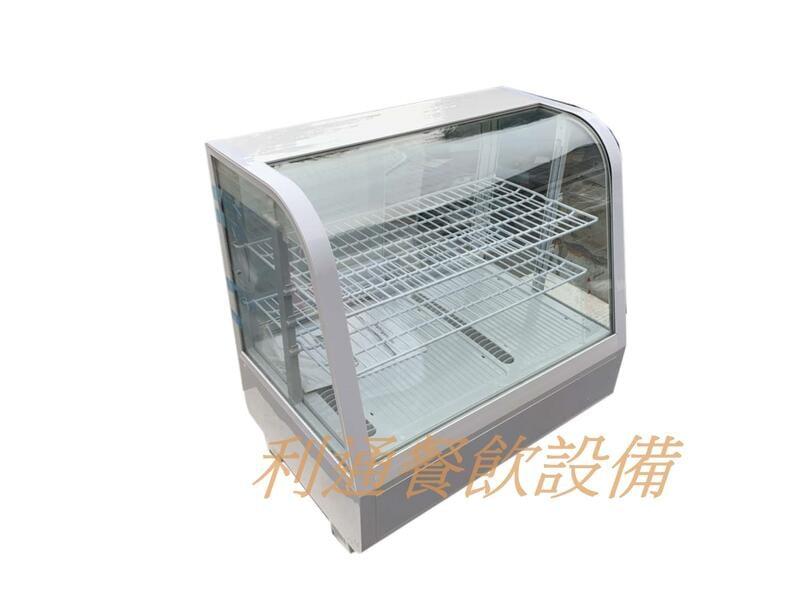 《利通餐飲設備》桌上型蛋糕櫃 (輕便型) 小菜櫥 冷藏冰箱 玻璃冰箱 展示櫃 展示櫥 飲料櫃