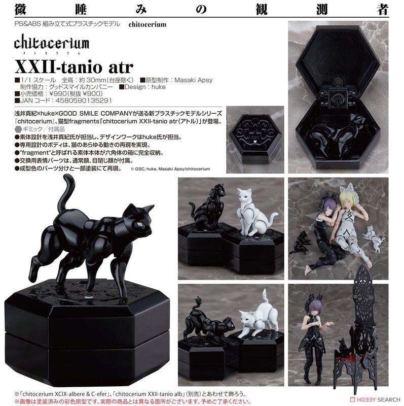 【怨念事務所】現貨 GSC 組裝模型 chitocerium XXII-tanio atr 黑貓