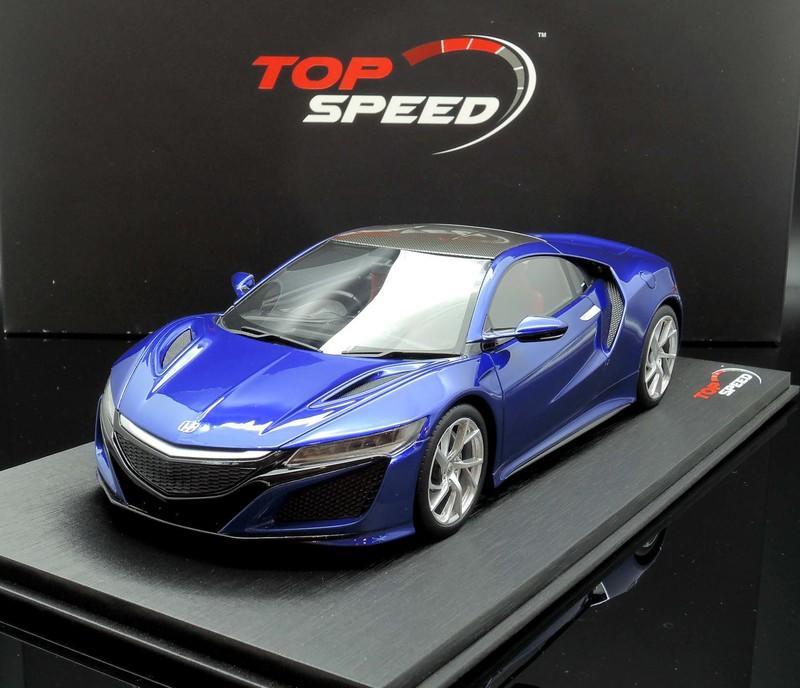 【MASH-2館】現貨特價 TSM TopSpeed 1/18 Acura NSX 2017 Blue 右駕