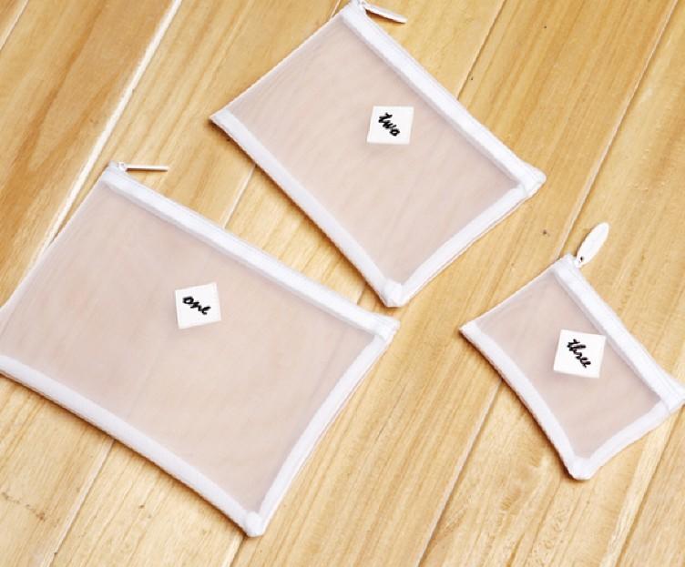 【愛來客 】cerro qreen 收納 整理 手拿化妝包 大中小號 紗網包 洗漱包 三款 兩色可選(不含內容物)