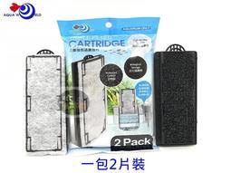 【樂魚寶】G-059-F 台灣 AQUA WORLD 水世界 超薄型外掛過濾器專用濾片 活性碳 過濾棉 插卡(1包2入)