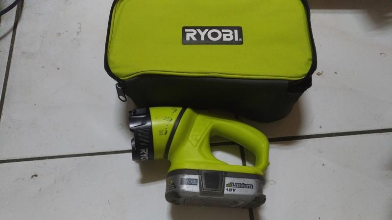 Ryobi工具袋18V手電筒,鋰電池