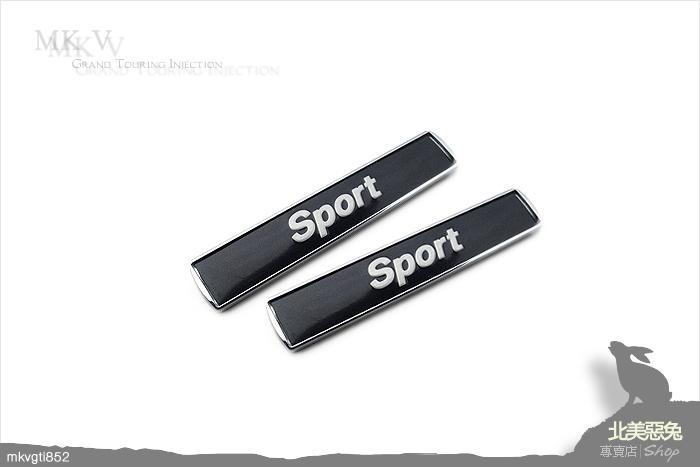 [北美惡兔- BMW Sport 側標 ] 銘牌 葉子板 標 1 2 3 4 5 6 7 X M 系列