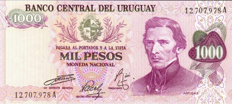烏拉圭-1974年1000元