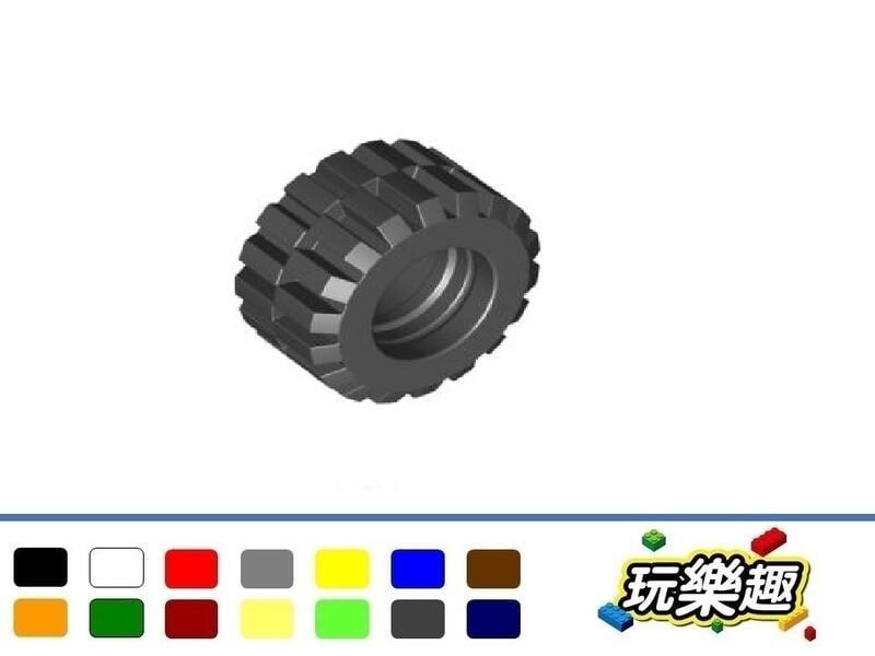 玩樂趣台中 LEGO 6015 車輪輪胎21mm D. x 12mm - 偏移胎面小寬(單個)多色可選 二手零件