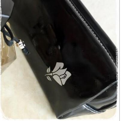 LANCOME蘭蔻 純黑色 PU素面化妝包/筆袋/收納包/洗漱包