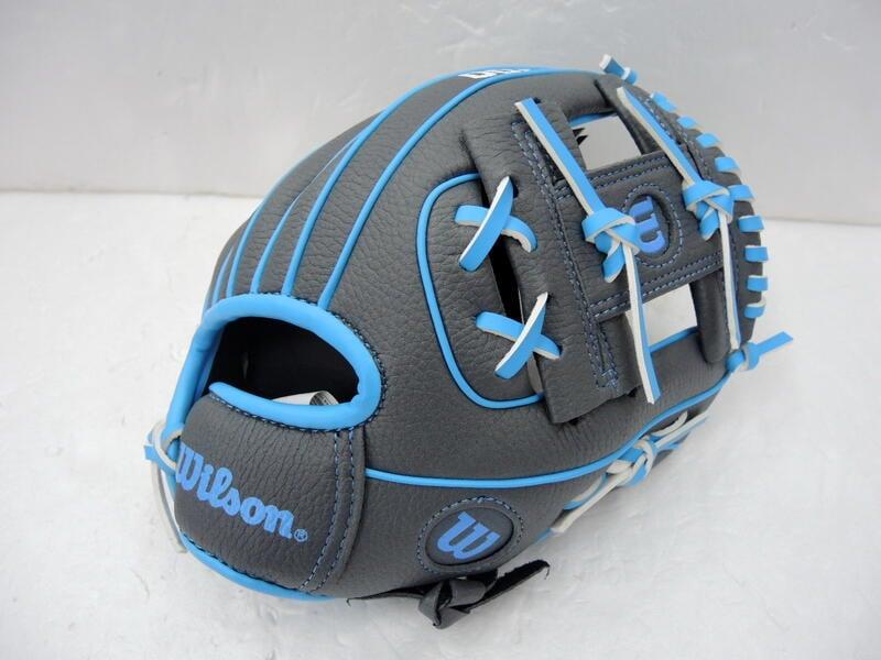 Wilson A200 兒童專用棒球手套 初心者手套 入門手套 10吋 灰藍