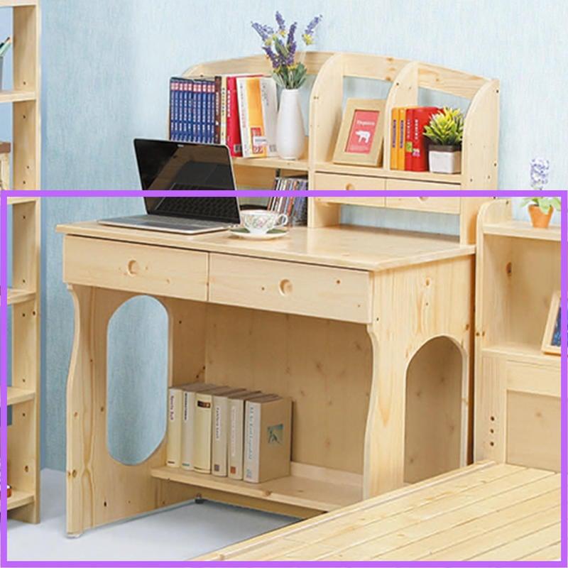 【在地人傢俱】20 樂樂購-松木實木3.1尺二抽書桌/電腦桌-下座 JL56-7