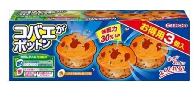🔥日本KINCHO金鳥果蠅誘捕盒 3入🔥  -  💯新包裝 效果升級30%💯