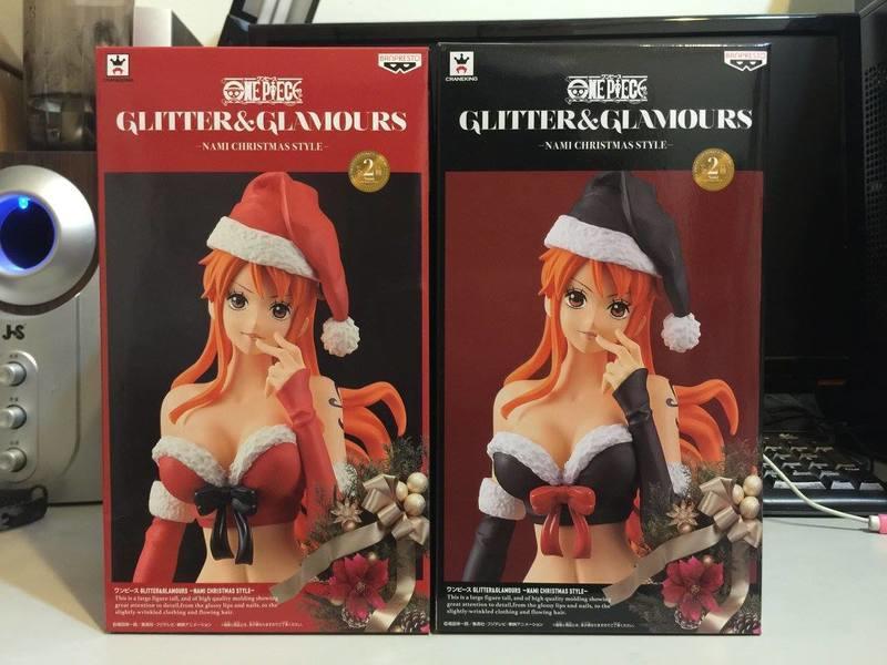 代理版 海賊王 景品 G&G 娜美 聖誕節 CHRISTMAS STYLE 紅+黑一套兩款 非 POP WCF ZERO