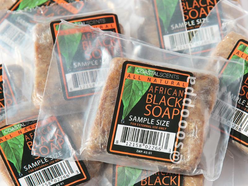 【預購】美國代購 正品 Coastal Scents African Black Soap 非洲黑皂 試用裝