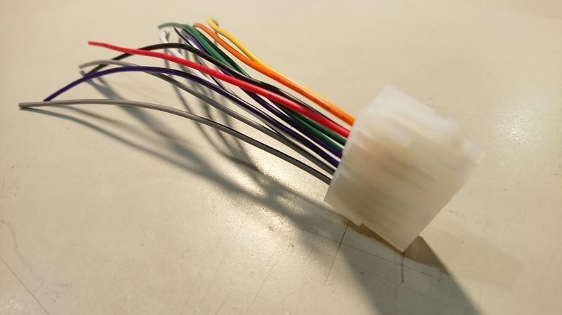 中華 堅達三期 FUSO tm-2001a-a clarion 原廠錄音帶汽車音響改他牌音響主機 專用電源喇叭線母頭