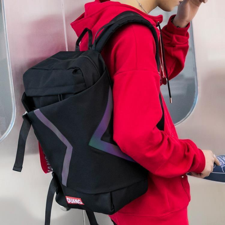 雙肩包鐳大容量中大學生書包電腦背包