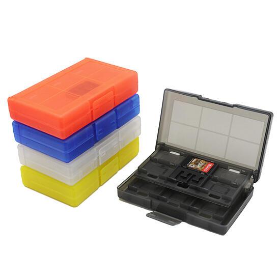 [哈GAME族]●可放24張卡夾+2張TF卡●Switch NS 24合一 卡匣收納盒 卡夾盒 遊戲卡盒 五色