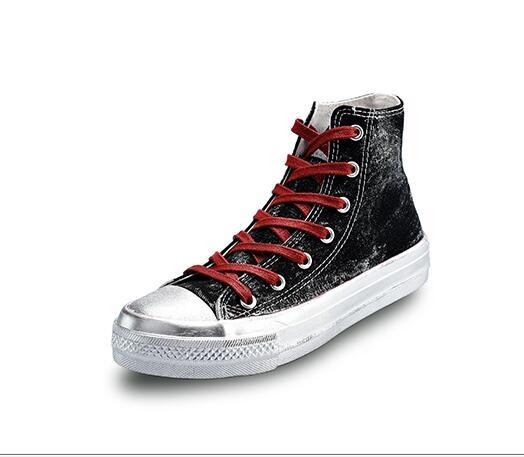 環球高筒帆布鞋女韓版學生百搭2018新款平底白布鞋小臟鞋港風板鞋【潮咖地帶】